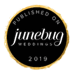 Click the icon to check out our feature on Junebug Weddings!