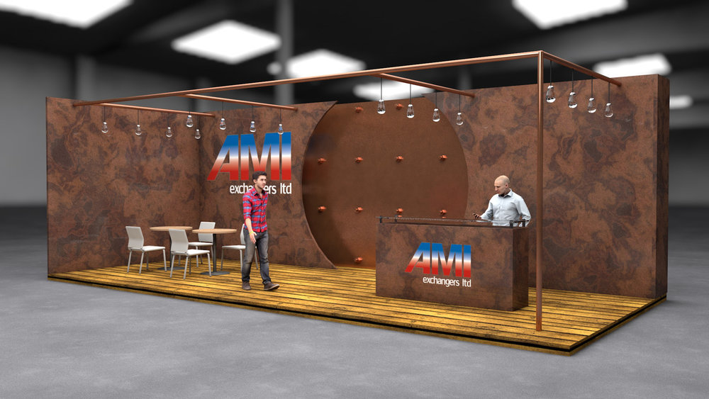 Exhibition stand render produced for JC Events