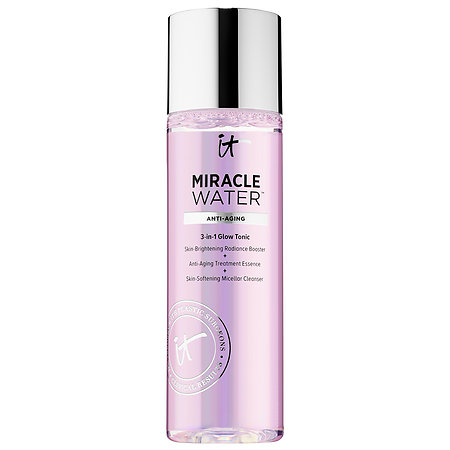 It Cosmetics Miracle Water - a 3-in-1 multi use tonic. It's a radiance booster, anti-aging essence and soothing micellar water! Here