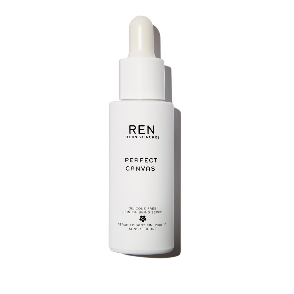 REN Skincare Perfect Canvas  - a skin smoothing and protecting serum primer free of silicones. Here