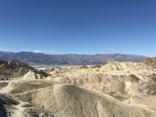 The badlands at Zabriskie Point