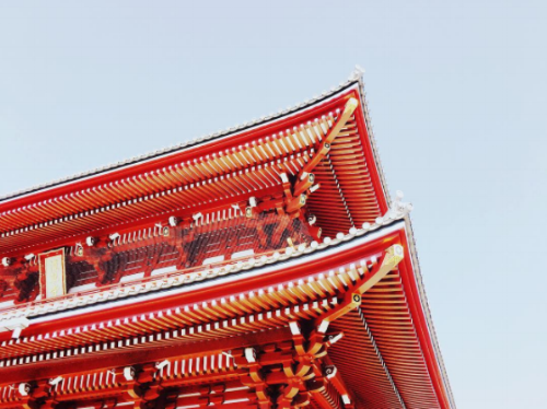 The Asakusa Sensoji Temple in Tokyo, Japan