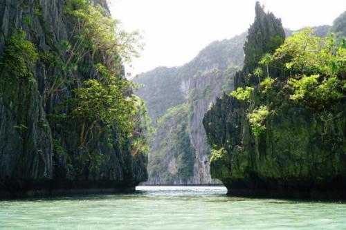 Kayaking through the Big Lagoon, El Nido, Palawan, Philippines