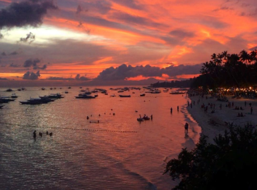 Sunset at Amorita Beach, Philippines