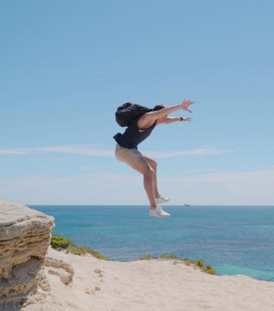 Jumping for joy in Australia