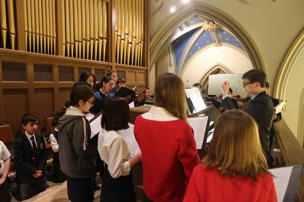 Choir Loft Rehearsing in Loft