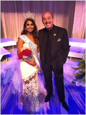 Yashvi Aware 2018 Miss Earth USA with CJ Comu - EarthWater Founder/CEO