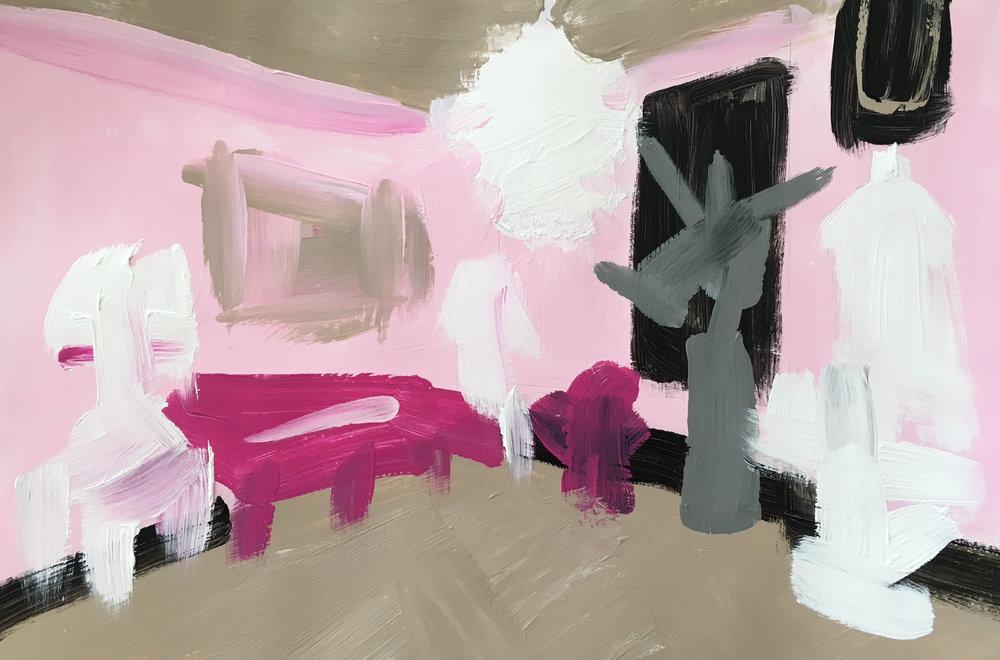 "74 - JAMIE BUSH Titled: ""Cha Cha Cha"" Medium: acrylic paint"