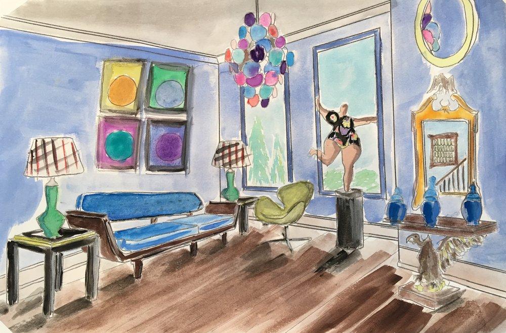 "78 - PETER MURDOCK Titled: ""Untitled"" Medium: watercolor"