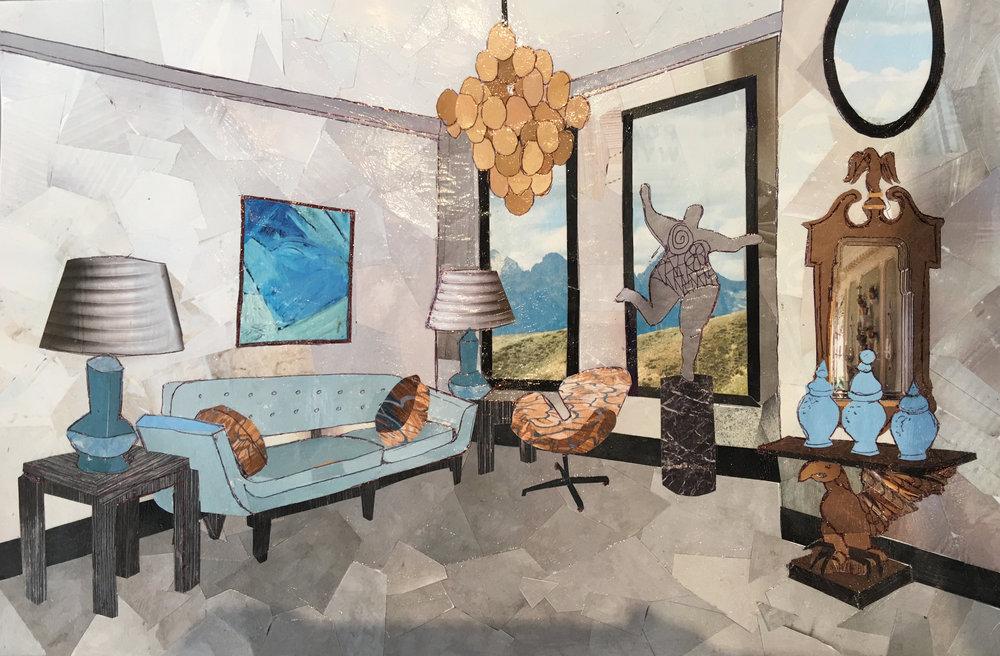 "85 - DAVID DALTON Titled: ""Pieces of a Dream"" Medium: collage"