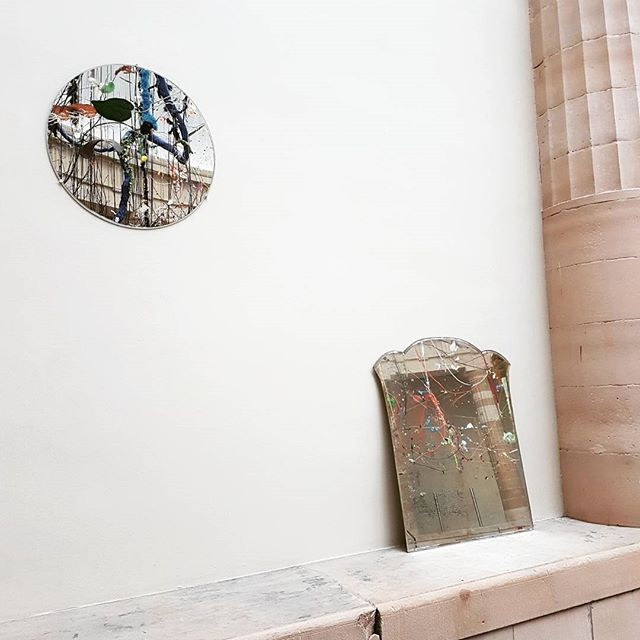 Reflections and juxtapositions in the galleries of Gent, Dutch masters hung alongside modern interpretations, columns and ceilings mirrored in Gerhard Richter sculptural works.  #smakgent #smak #msk #mskgent #gerhardrichter #art #gent