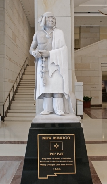 Po'Pay Statue; National Statuary Hall, Emancipation Hall,                  United State Capitol Building, Washington DC