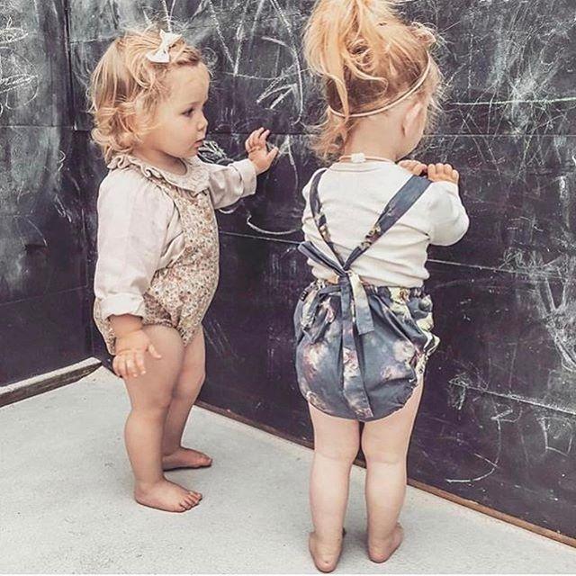 These two  @myrtlemac ✨✨ #myrtlemac #romper #handmade #handmadewithlove #vintagebaby #vintagestyle #aushandmade #auskidshandmade #kidzfashion #toddlerfashion #girlsromper #girlsfashion #letthembelittle #lovelysquares