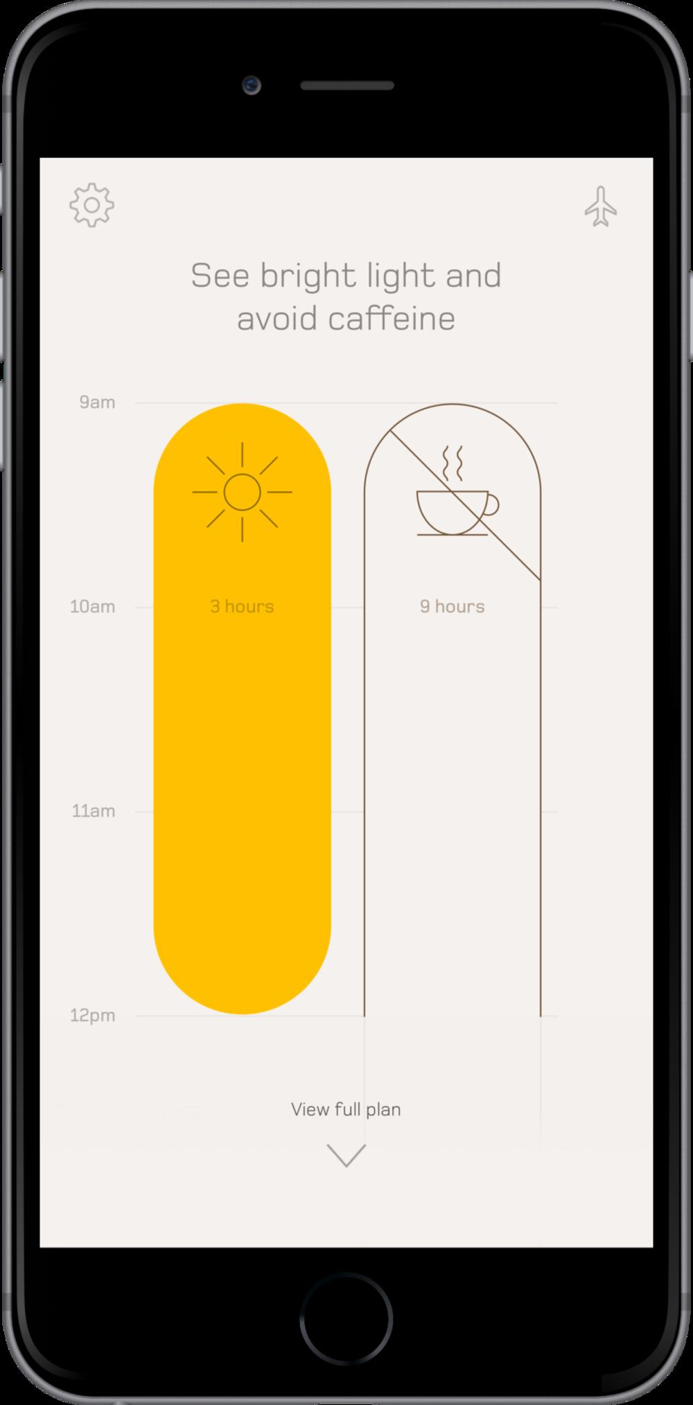 Download the Timeshifter app for eliminating jet lag