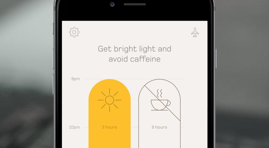 Timeshifter jet lag app