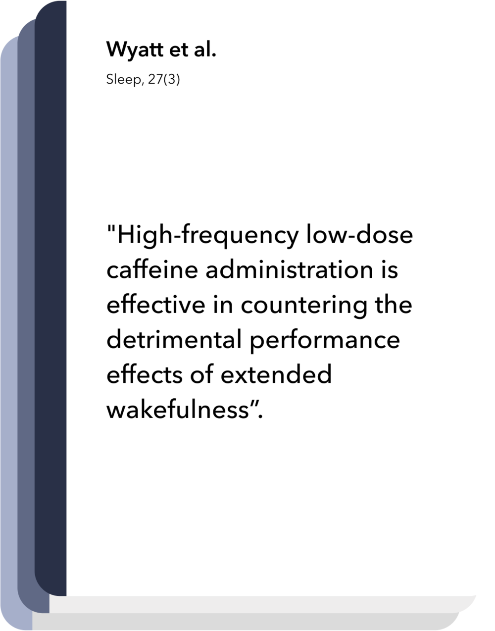 Latest research in sleep and circadian neuroscience: Caffeine