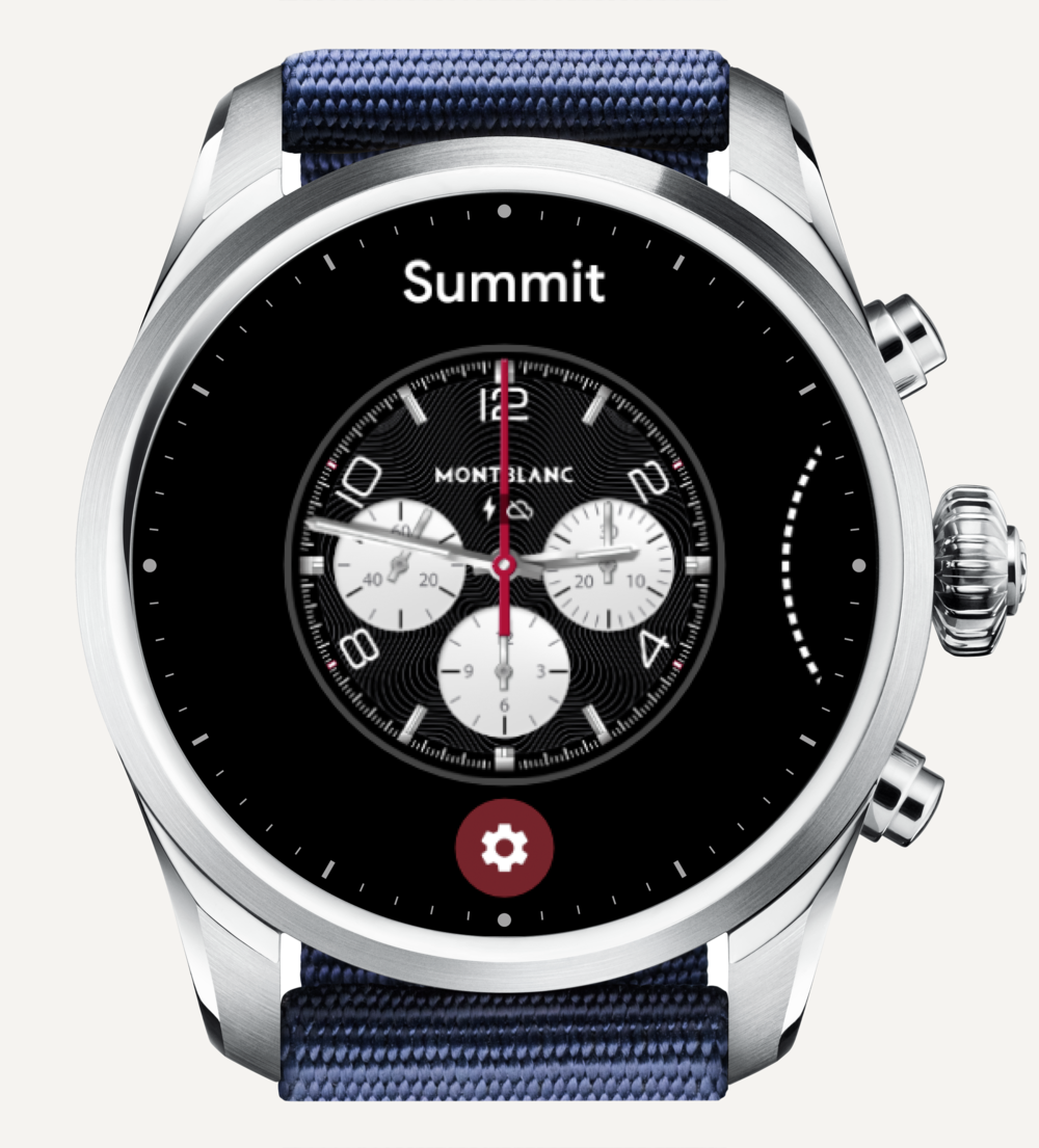 Long tap on your watch face to select a new watch face.