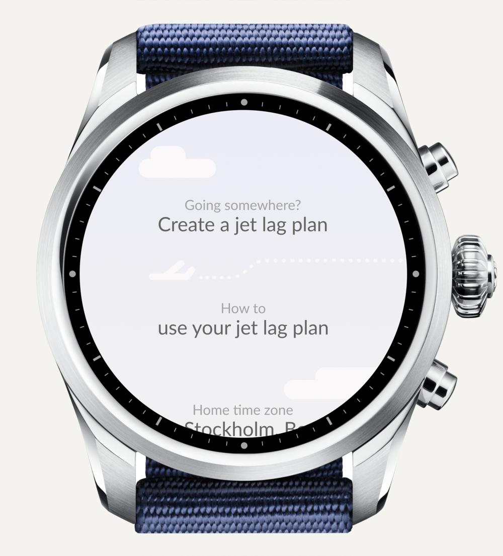 Tap 'Create a jet lag plan'.