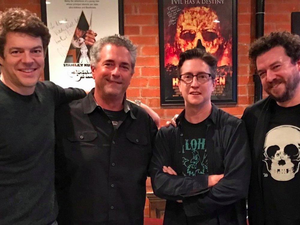 from Left to right. Jason Blum, Malek Akkad, David Gordon & Danny McBride