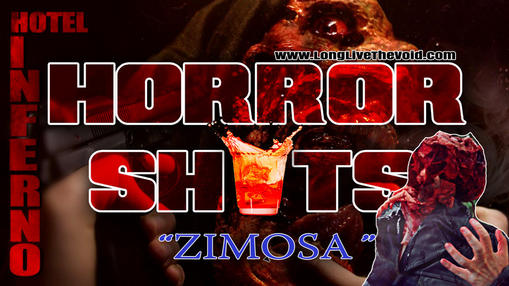 "a Shot for Frank Zimosa from the movie ""Hotel Inferno"" as a pregame for Thursdays Schlock fest!"