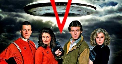 The original cast of V from the 80s