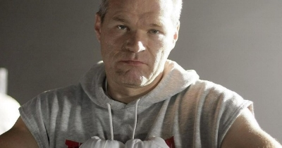 Uwe Boll getting ready for a boxing match with Critics.