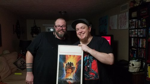 Nick & Alex with the Zombie 3 poster