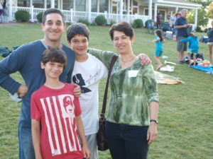 Julie and Joel with their children (from left) Jonathan and Ezra