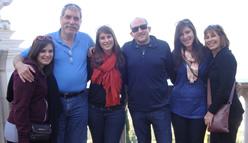 Dr. Leslie and Bernie Goldblatt with their children Aviva, Leora and Talia & Ari Derman