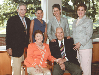 Roselind and Sheldon Rabinowitz, seated, with their children (left to right):Victor, Joy, Elyse and Julie