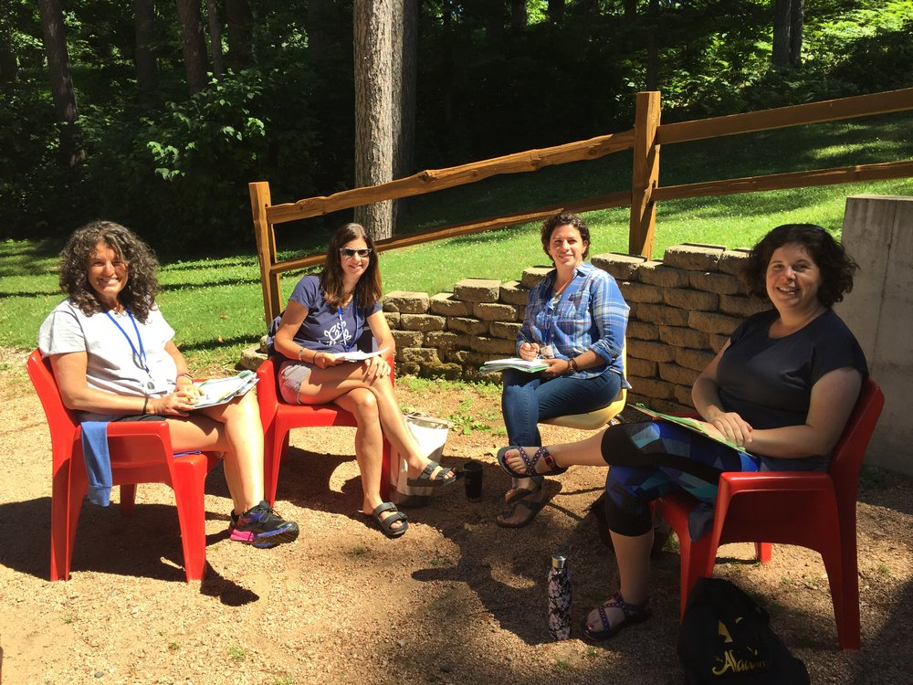Some of the members of our Camper Care team - from left, Dina Shiner, Nina Harris, Yael Bendat-Appell and Elisa Rotman