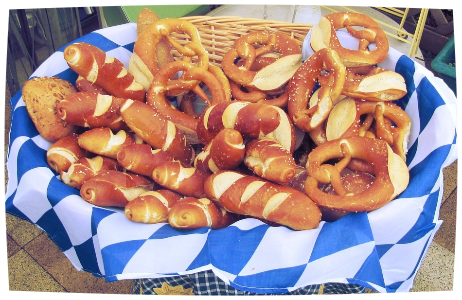 Oktoberfest Social - Association of Commercial Real Estate - Networking EventGeographic Services Inc (GSI) Pretzel Necklace Sponsors
