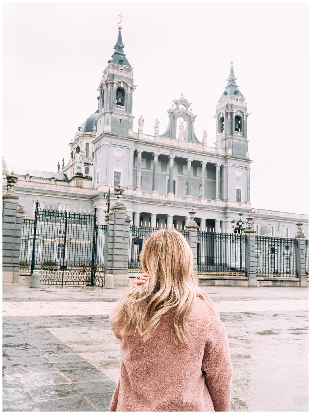 How beautiful is this Church?! It's Almudena Cathedral, which is right next to the Royal Palace as well. So you see two attractions in one.
