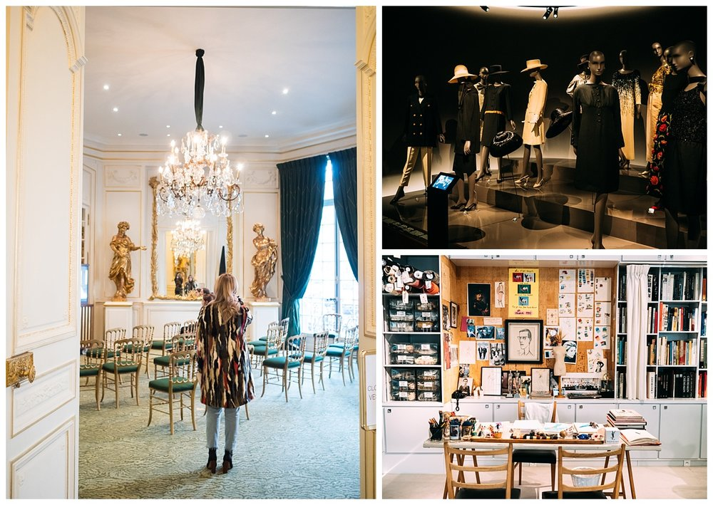 Musee Yves Saint Laurent. This museum was so cool and interesting to see. Too bad my coat or boots weren't YSL ;p