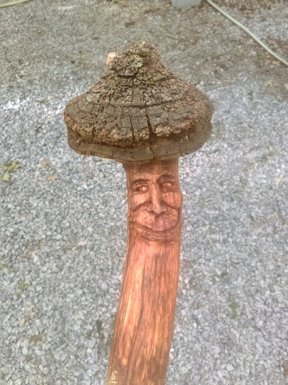 Dan Fischer Sculptor of found wood  Demonstrating Saturday 10:00 to 1:30