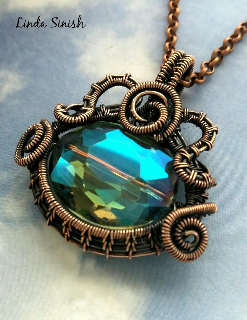 Linda Sinish Wire Woven Jewelry Demonstrating Saturday 1:30 to 5:00