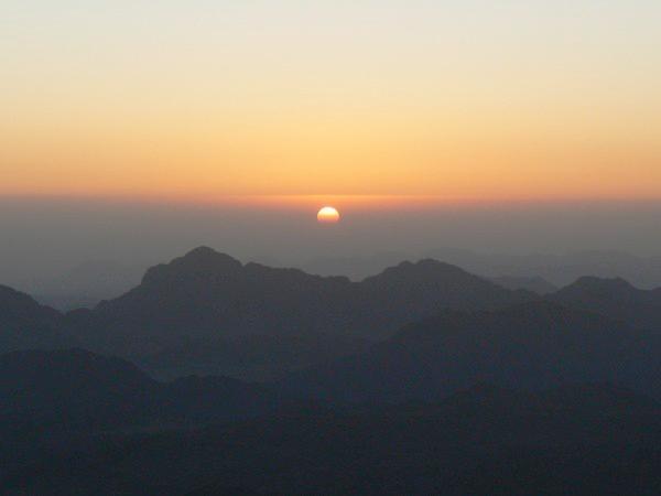Soleil au Mont Moïse