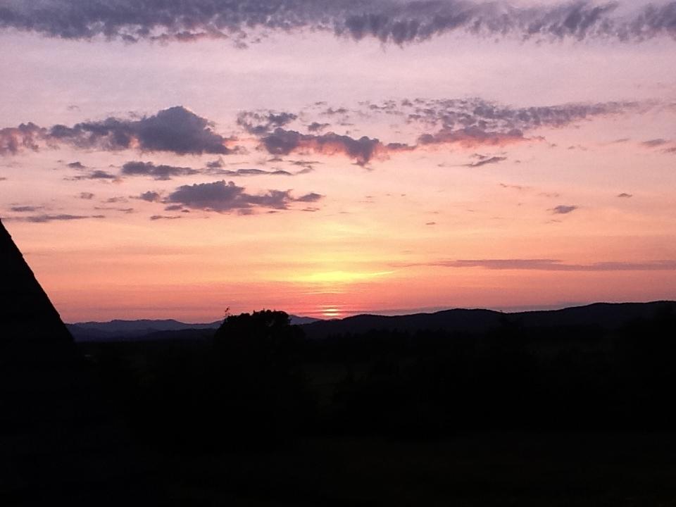 Pink western sky!