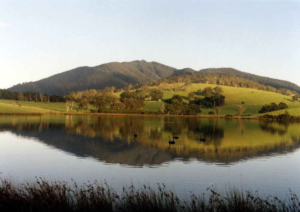 Little Tilba Lake and Gulaga (Mount Dromedary)