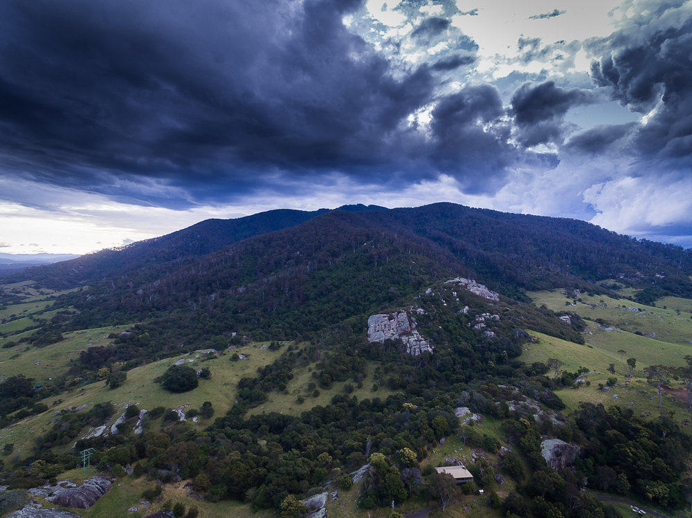 A stormy, evening Gulaga