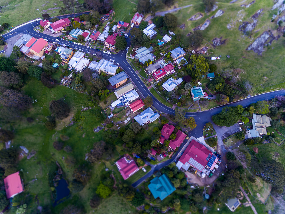 Central Tilba from above