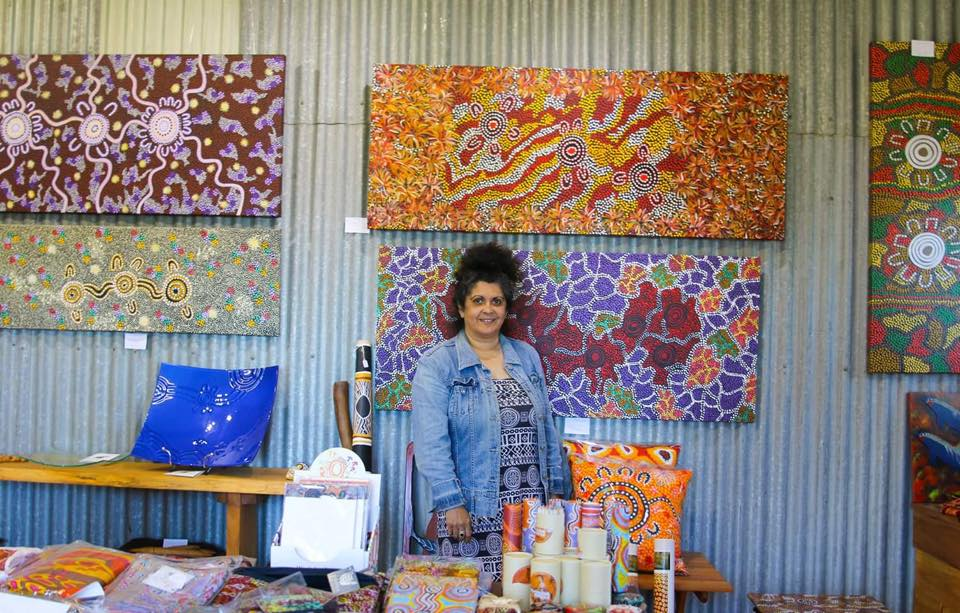 Merryn from Apma Creations Aboriginal Art Gallery, Central Tilba