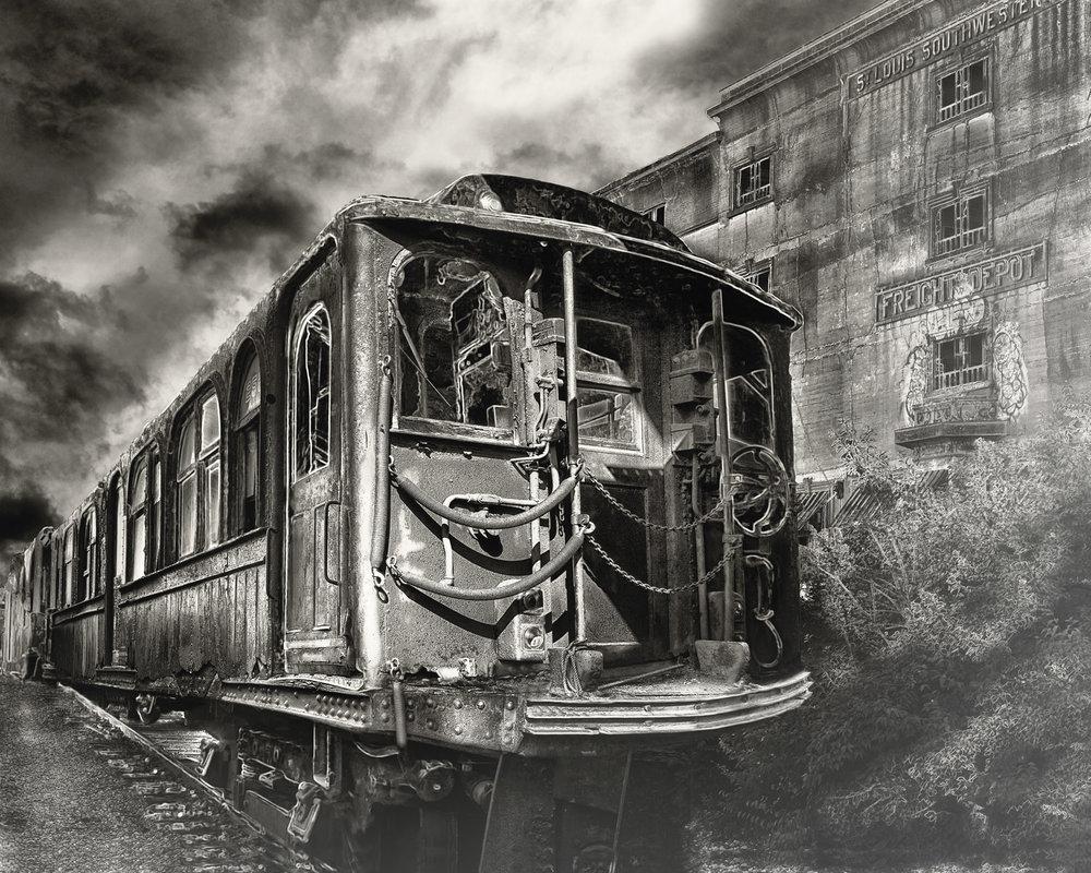 """all aboard"" sepia"
