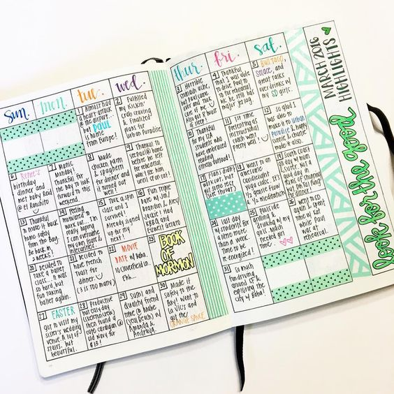 An example of a monthly gratitude journal. Photo found on @pinterest