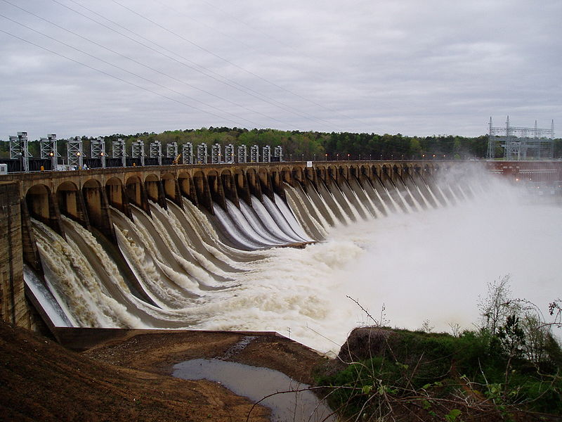Dam on the Coosa River.  Mike Kline