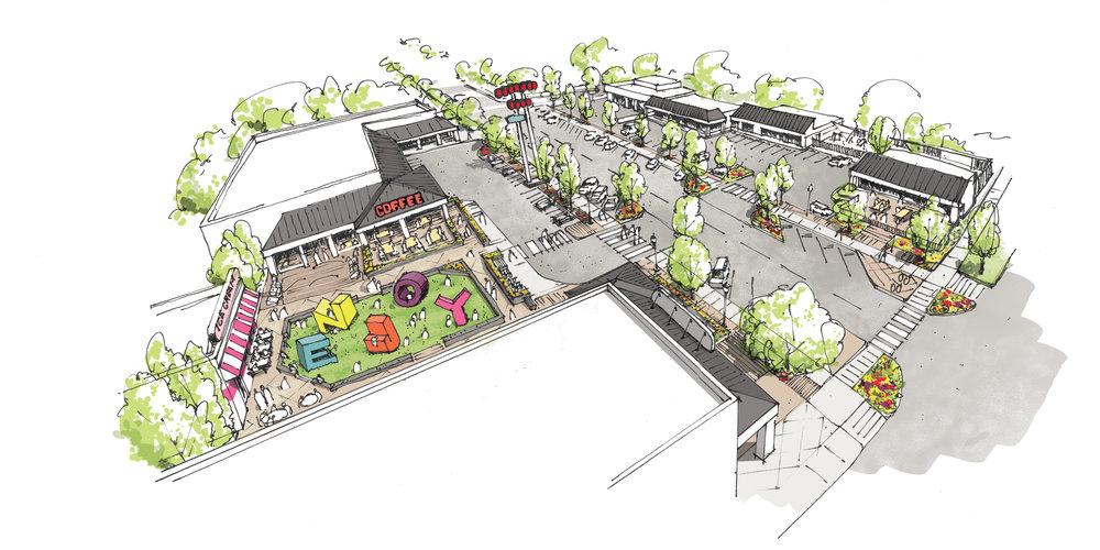 Oneida Park Redevelopment Rendering