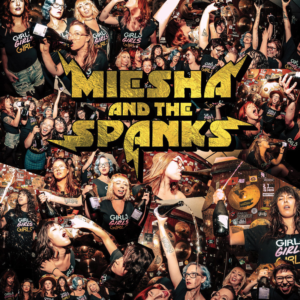 Miesha & The Spanks - Girls Girls Girls  Artwork by Richard MacFarlane