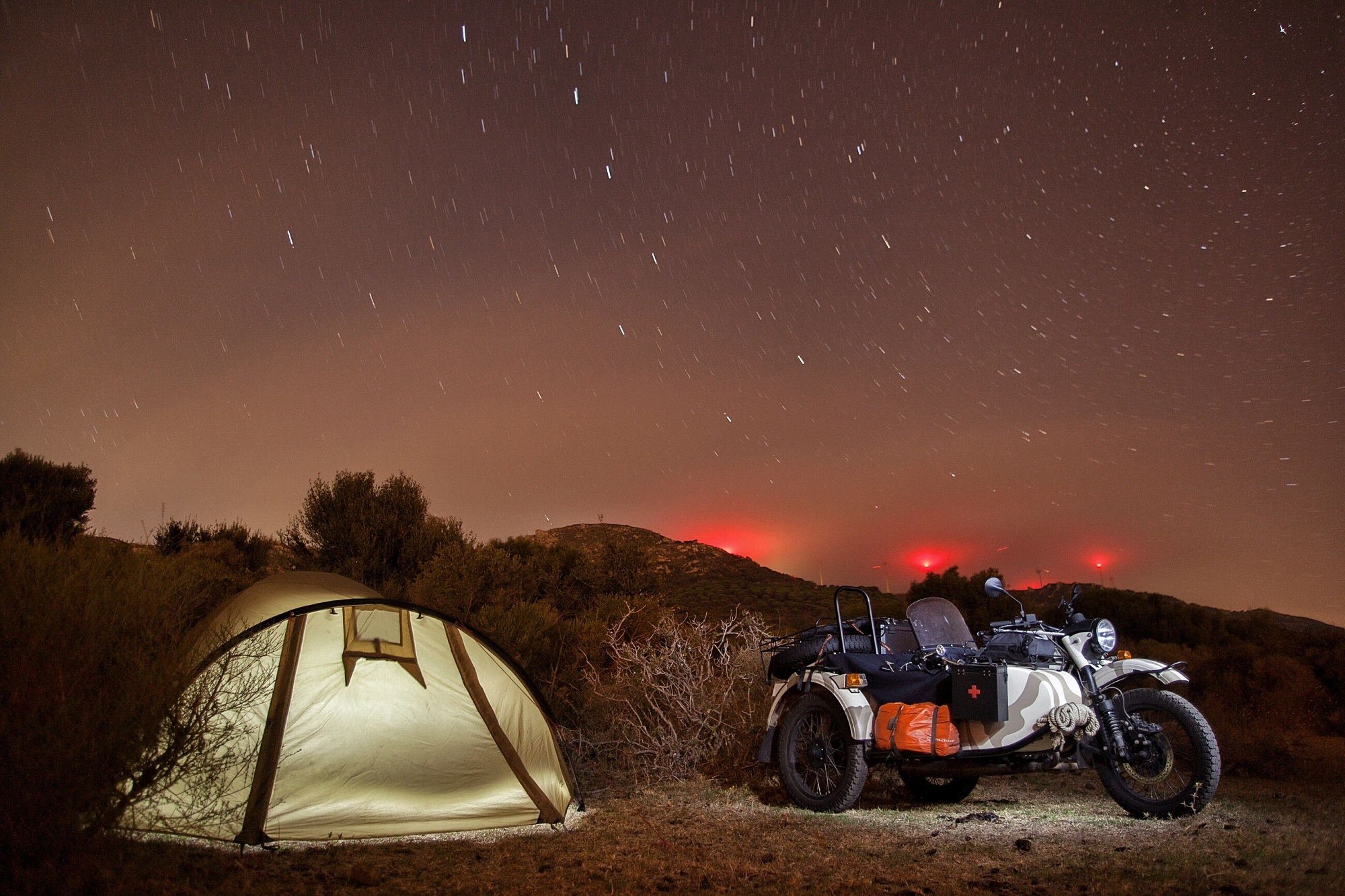 Wild camping near Algeciras, Spain.
