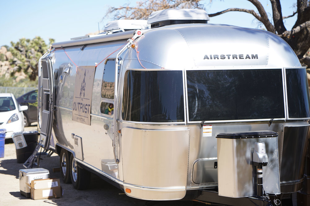 Home base courtesy of our friends at Airstream!
