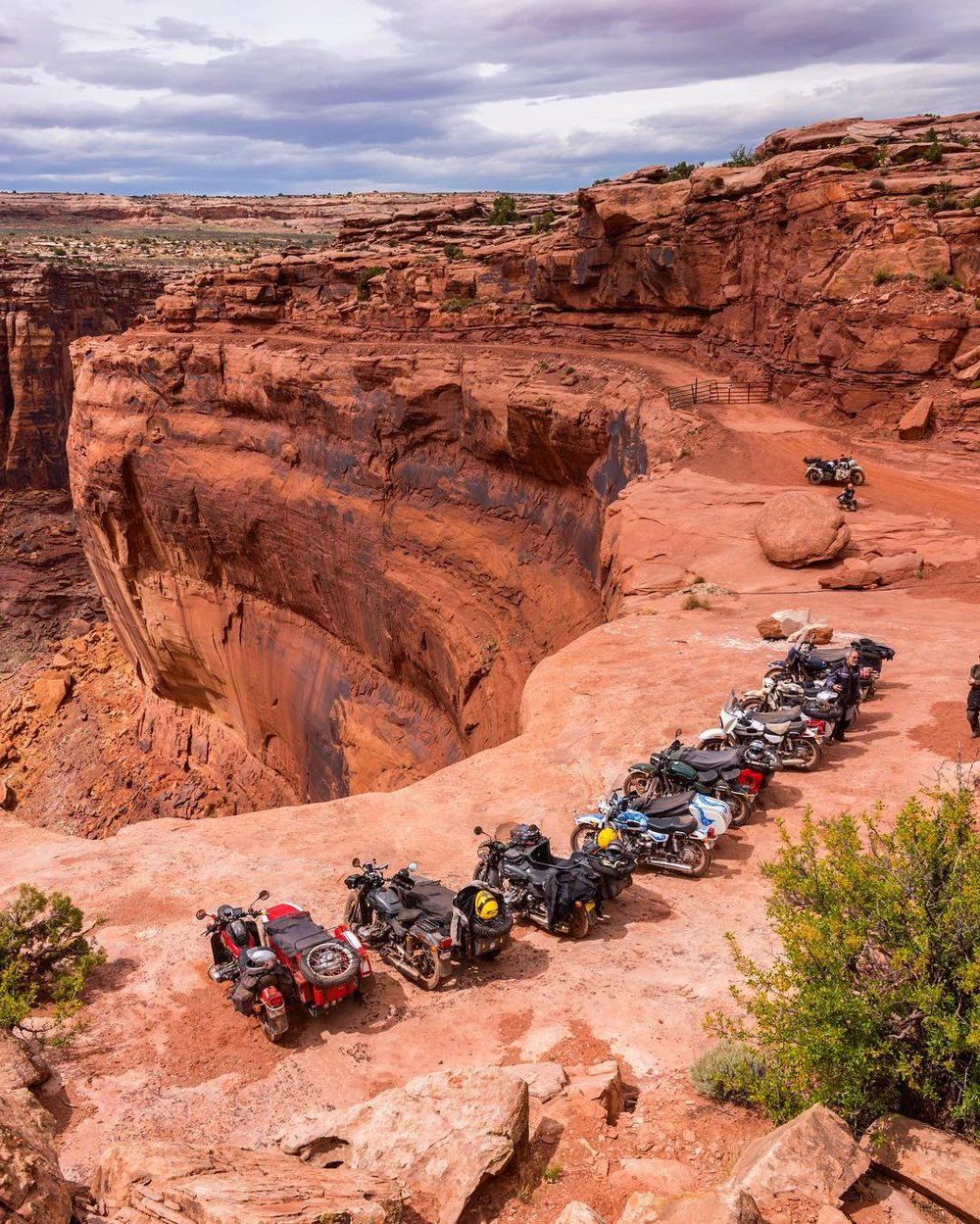 Rally line up, not a bad view! Photo: Ural owner,  Tim L .